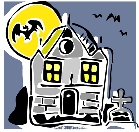 haunted house Royalty Free Vector Clip Art illustration vc064871
