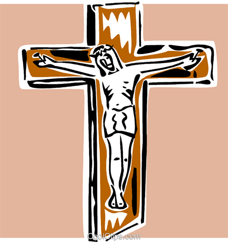 crucifix Royalty Free Vector Clip Art illustration vc064874
