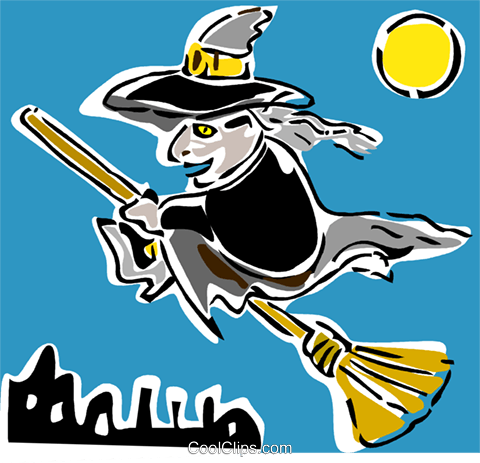 witch Royalty Free Vector Clip Art illustration vc064876