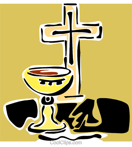 The Cross and communion chalice Royalty Free Vector Clip Art illustration vc064877
