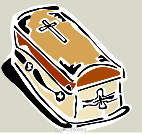 coffin Royalty Free Vector Clip Art illustration vc064883