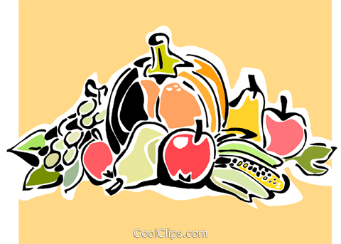 bountiful harvest Royalty Free Vector Clip Art illustration vc064884