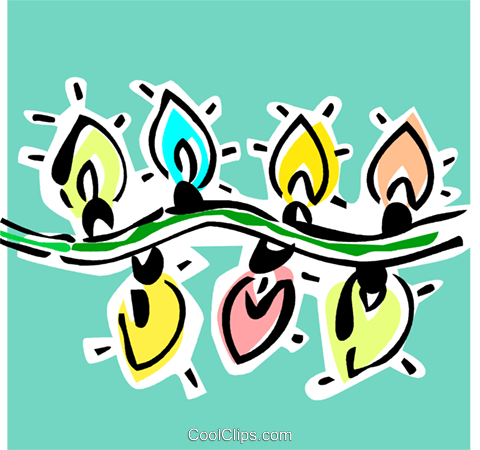 Christmas lights Royalty Free Vector Clip Art illustration vc064886