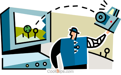 man with a digital camera Royalty Free Vector Clip Art illustration vc064919