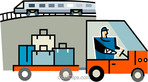 baggage handler at the train station royalty free vector clip art rh search coolclips com train station clipart images train station clipart images