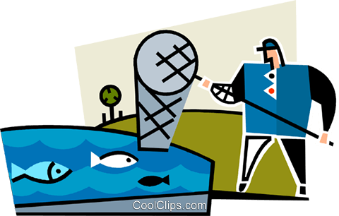 commercial fisherman Royalty Free Vector Clip Art illustration vc064949
