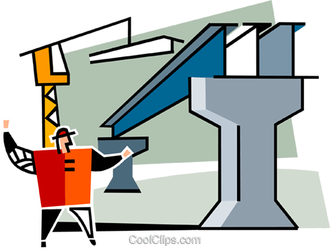 steelworker Royalty Free Vector Clip Art illustration vc064952