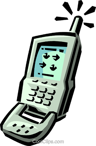 cellular phone Royalty Free Vector Clip Art illustration vc065012