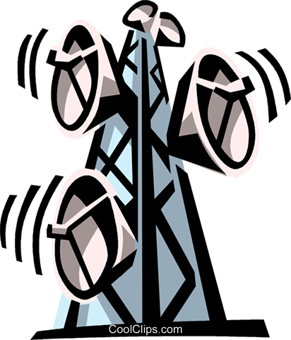 microwave towers Royalty Free Vector Clip Art illustration vc065013