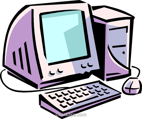 computer system Royalty Free Vector Clip Art illustration vc065015
