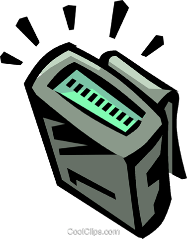 pager Royalty Free Vector Clip Art illustration vc065033