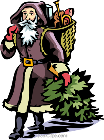 Father Christmas Royalty Free Vector Clip Art illustration vc065038