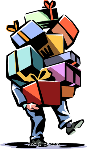 Christmas gifts Royalty Free Vector Clip Art illustration vc065039