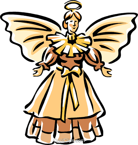 Christmas angel Royalty Free Vector Clip Art illustration vc065041