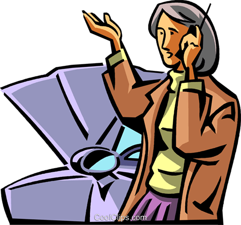 woman with car trouble Royalty Free Vector Clip Art illustration vc065048