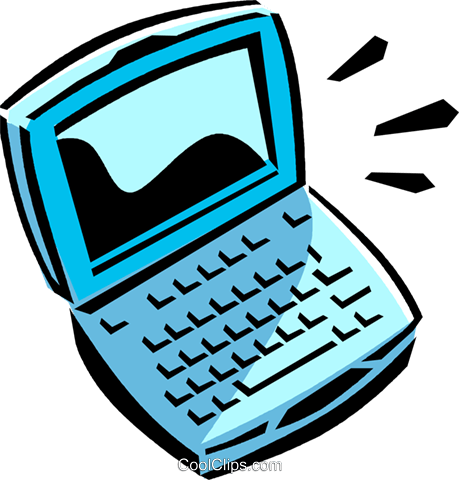 laptop/notebook computer Royalty Free Vector Clip Art illustration vc065059