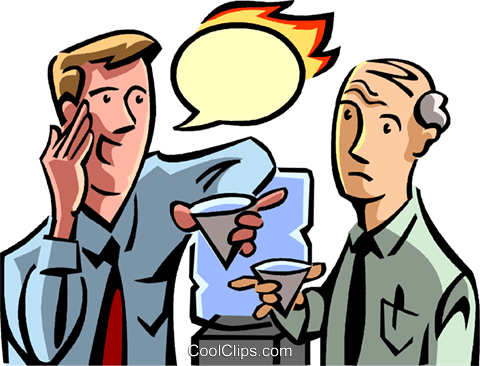 two people talking at the water cooler Royalty Free Vector Clip Art illustration vc065083