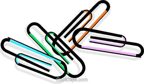 paperclips Royalty Free Vector Clip Art illustration vc065086