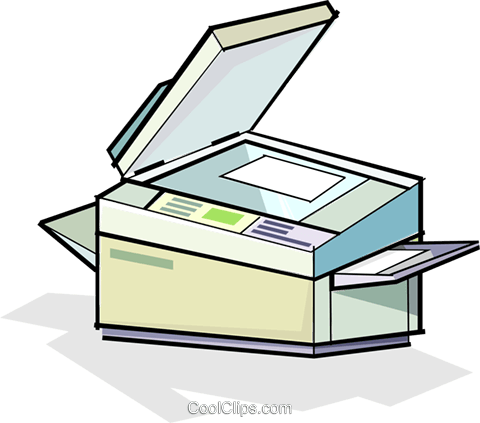 photocopier Royalty Free Vector Clip Art illustration vc065087
