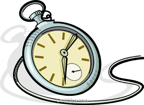 pocket watch Royalty Free Vector Clip Art illustration vc065094