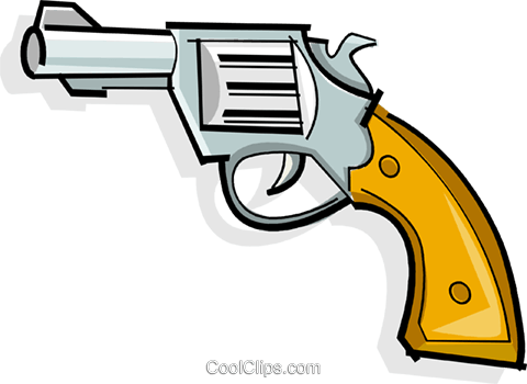 revolver Royalty Free Vector Clip Art illustration vc065096