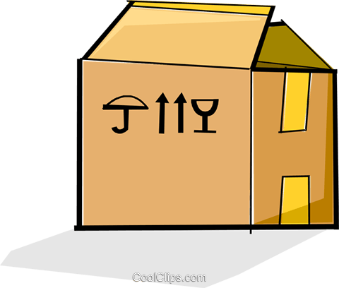 cardboard box Royalty Free Vector Clip Art illustration vc065098