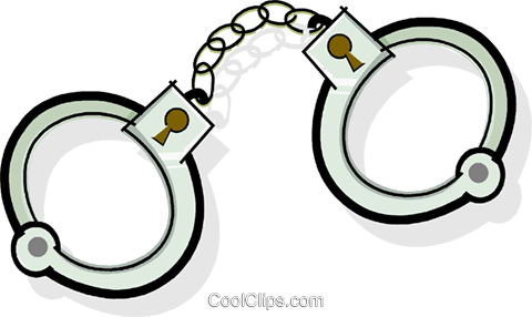 handcuffs Royalty Free Vector Clip Art illustration vc065099