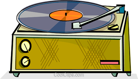 lp record player Royalty Free Vector Clip Art illustration vc065107