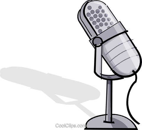 microphone Royalty Free Vector Clip Art illustration vc065111