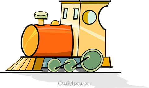 train engine Royalty Free Vector Clip Art illustration vc065117