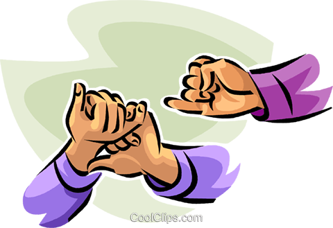 sign language Royalty Free Vector Clip Art illustration vc065124