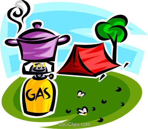 camping equipment Royalty Free Vector Clip Art illustration vc065153