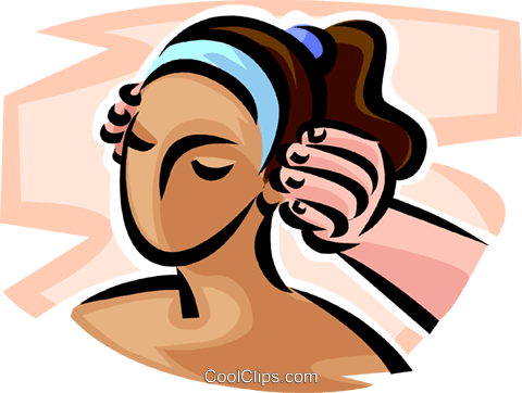 woman receiving a massage Royalty Free Vector Clip Art illustration vc065172