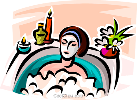 woman receiving a facial Royalty Free Vector Clip Art illustration vc065174