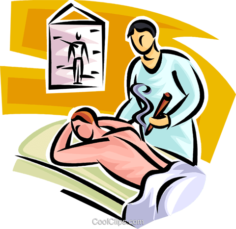 massage therapy Royalty Free Vector Clip Art illustration vc065178