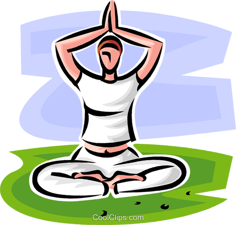 woman doing yoga Royalty Free Vector Clip Art illustration vc065180