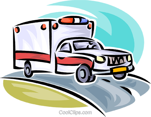 ambulance Royalty Free Vector Clip Art illustration vc065193