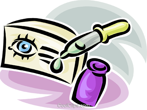 eye drops Royalty Free Vector Clip Art illustration vc065216