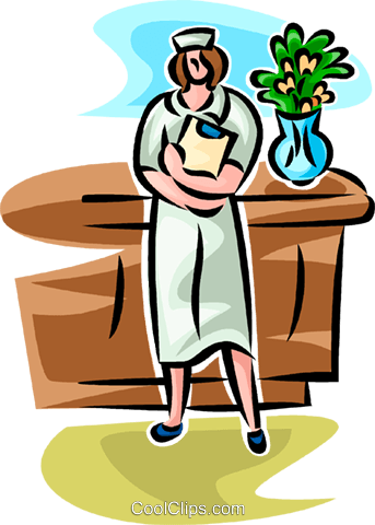 nurse with a clipboard Royalty Free Vector Clip Art illustration vc065231