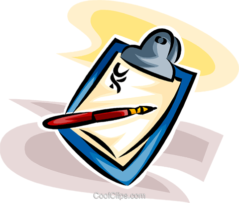doctor's clipboard Royalty Free Vector Clip Art illustration vc065237