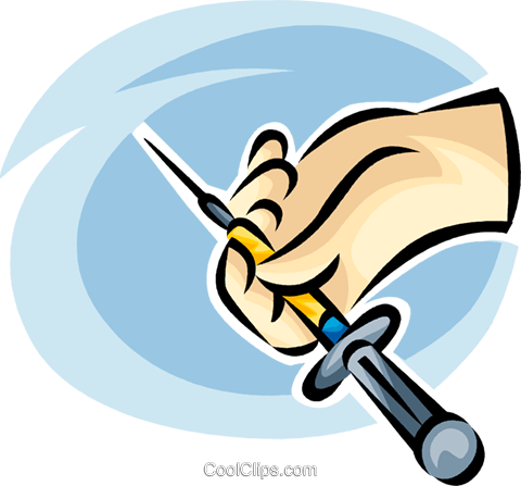 needle/syringe Royalty Free Vector Clip Art illustration vc065238
