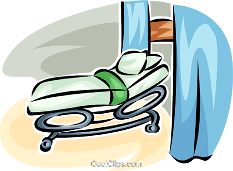 hospital bed Royalty Free Vector Clip Art illustration vc065246