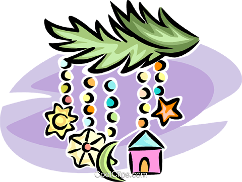 Christmas decorations Royalty Free Vector Clip Art illustration vc065264