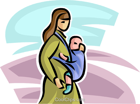 woman with a baby Royalty Free Vector Clip Art illustration vc065278