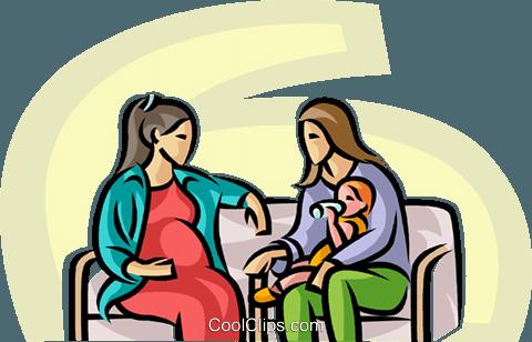 Schwangere Mutter ClipArt
