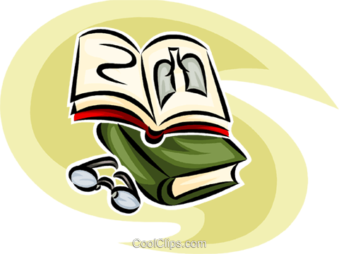 doctor's book and eyeglasses Royalty Free Vector Clip Art illustration vc065291
