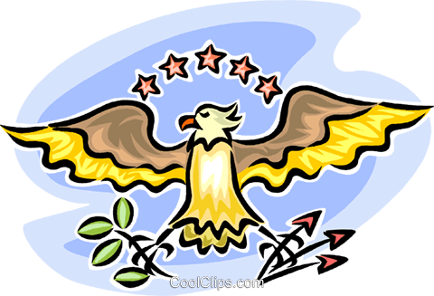 American eagle Royalty Free Vector Clip Art illustration vc065306