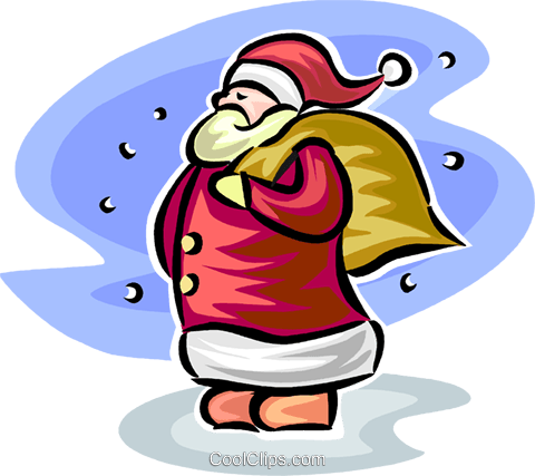 Santa Royalty Free Vector Clip Art illustration vc065326
