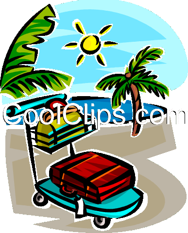 vacation on a sunny beach Royalty Free Vector Clip Art illustration vc065331