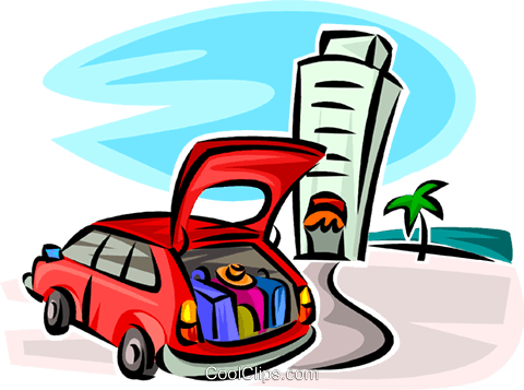 car full of luggage at a hotel royalty free vector clip art rh search coolclips com full circle parts full circle partnership
